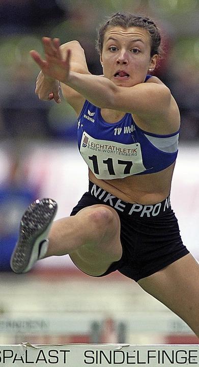 <BZ-FotoAnlauf>Leichtathletik:</BZ-Fot...Simea Thanei vom TV Wehr wurde Vierte.  | Foto: Ralf Görlitz