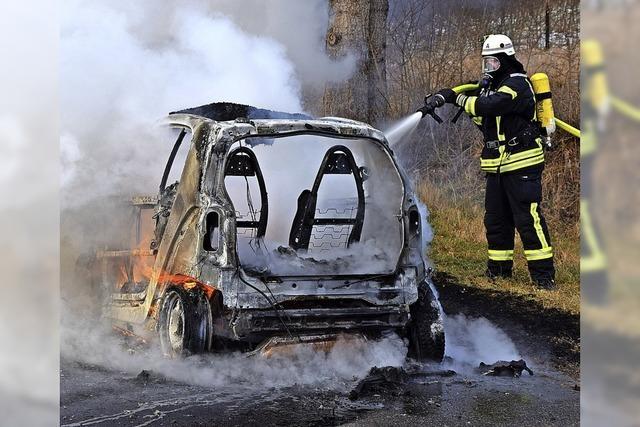 Kleines Auto – großes Feuer