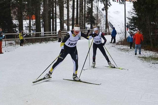 Der SV Kirchzarten ist bei der Schwarzwaldmeisterschaft der Skilangläufer am Notschrei der dominierende Verein
