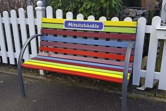 Extra Bänkle in Seelbach