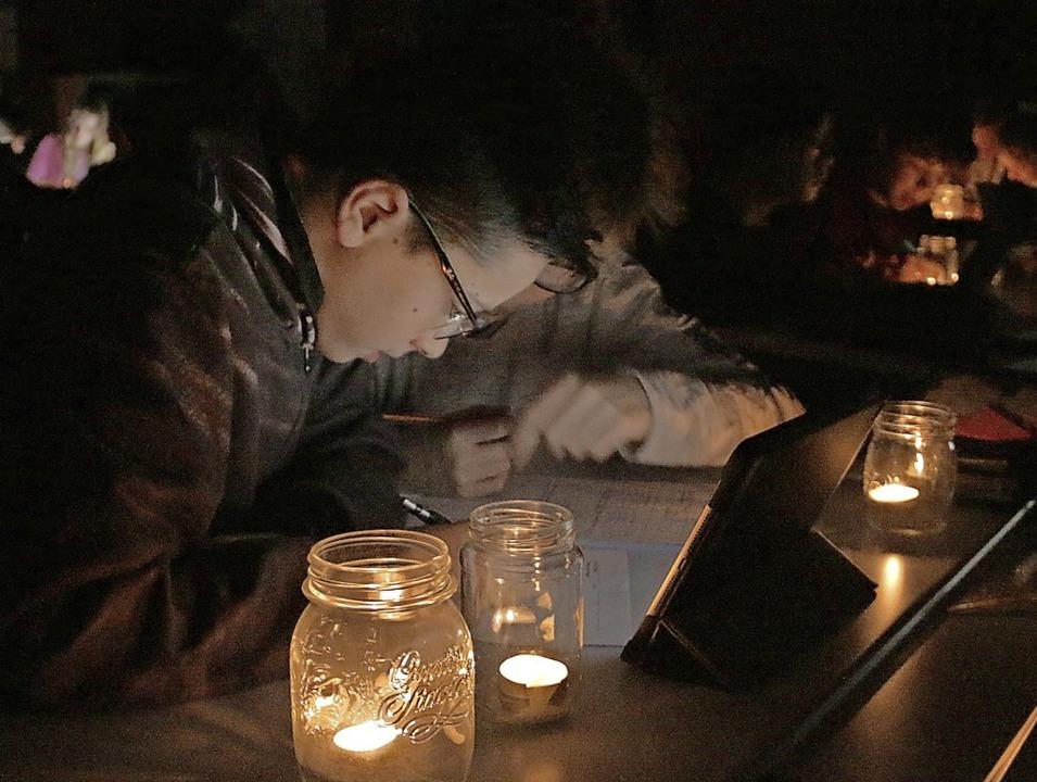 Schultag ohne Strom: In Rafz, der Schw...Ressource Energie zu sensibilisieren.   | Foto: Juergen Trebs