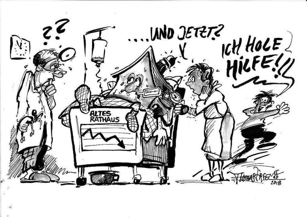 Rettung tut Not – Karikatur von Thomas Zipfel  | Foto: Thomas Zipfel