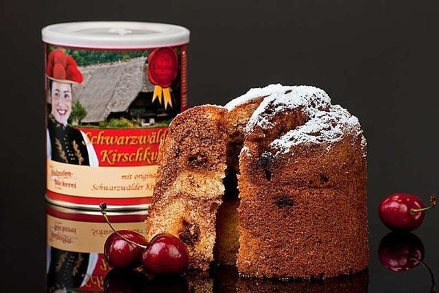 Die Beckesepp -Bäckerei produziert Schwarzwälder Kirschkuchen aus der Dose