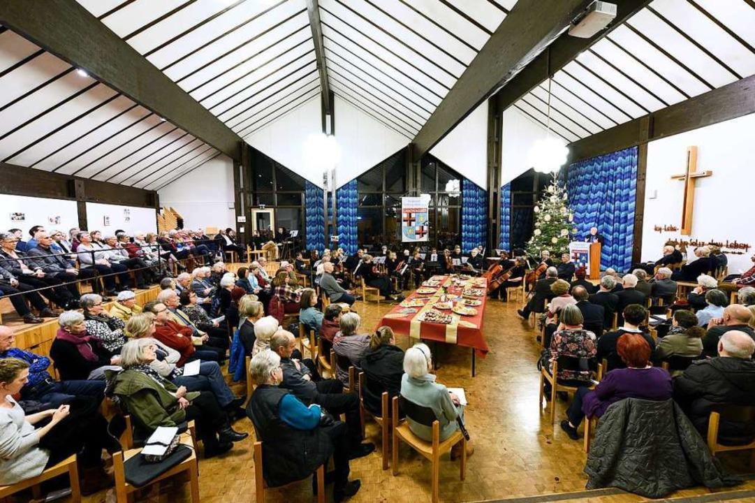 Ein  volles Haus gab's beim Land...ujahrsempfang im Zachäus-Gemeindesaal.  | Foto: Thomas Kunz