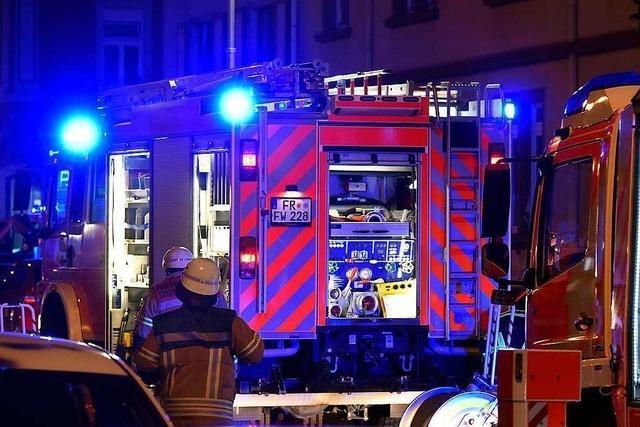 Stromleitung wegen Brand einer Freiburger Gartenhütte vom Netz genommen