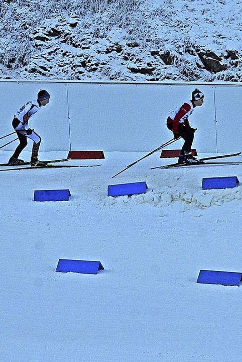 Auf einem  800-Meter-Rundkurs kämpften die Schüler um Sekunden.  | Foto: Annemarie  Zwick