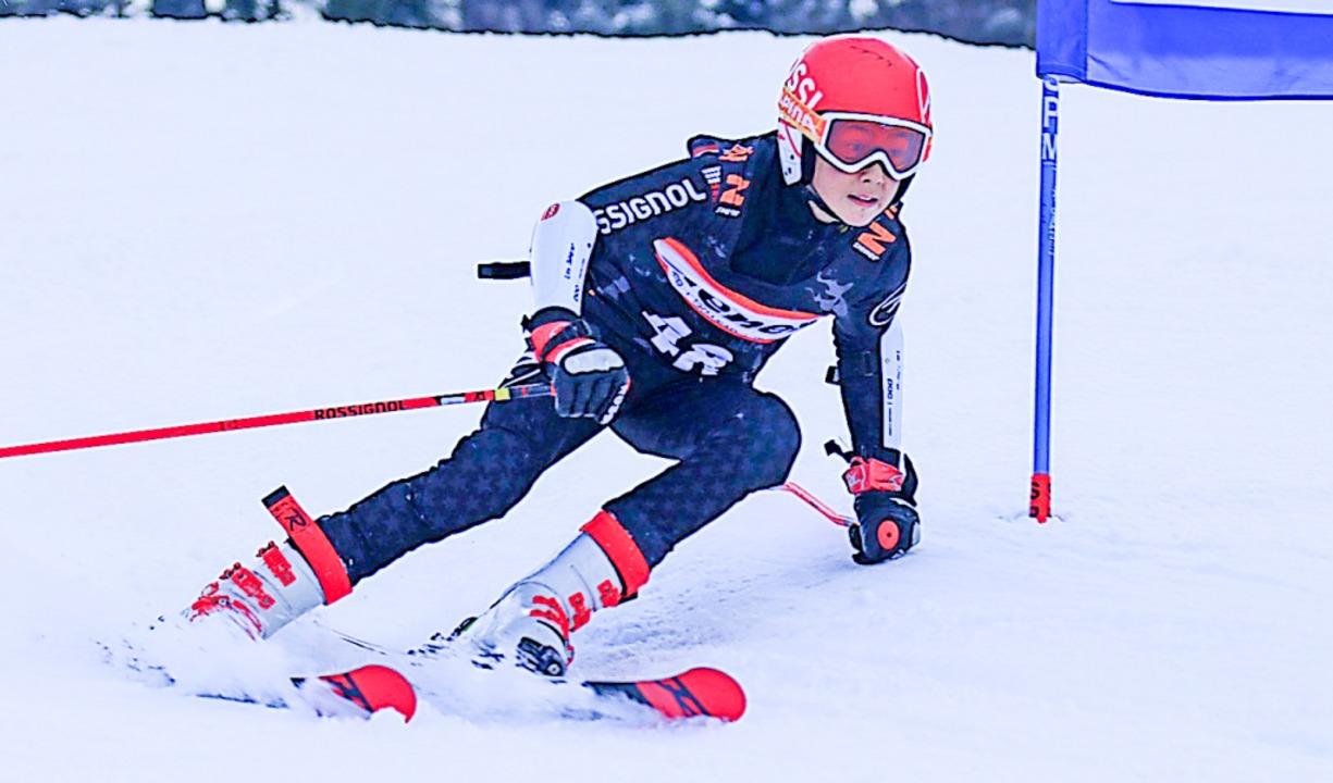 Leo  Scherer vom Skiteam Freiburg war ...nnläufer des Skiverbands Schwarzwald.     Foto: Martin Siegmund