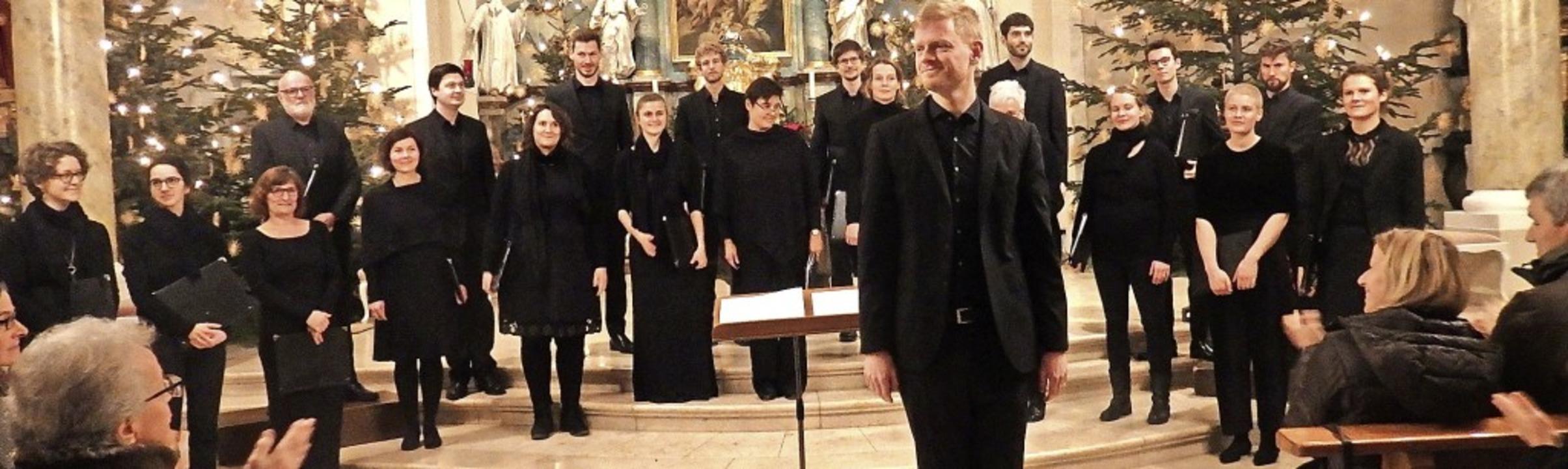 Das William-Byrd-Ensemble unter der Le...rtuosen Darbietungen in Begeisterung.   | Foto: Bianca Flier