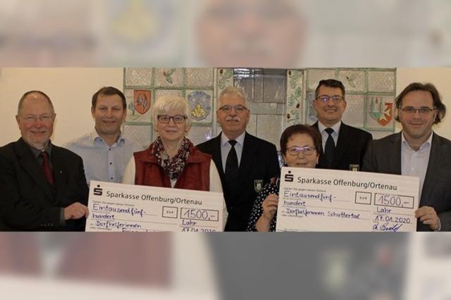 Spenden für Schuttertal und Friesenheim