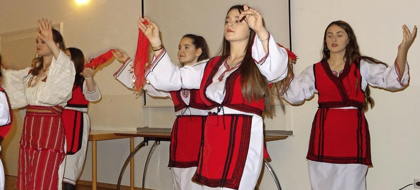 Erstmals präsentiere sich die albanisc...e beim Neujahrsempfang in Friedlingen.    Foto: Yvonne Siemann