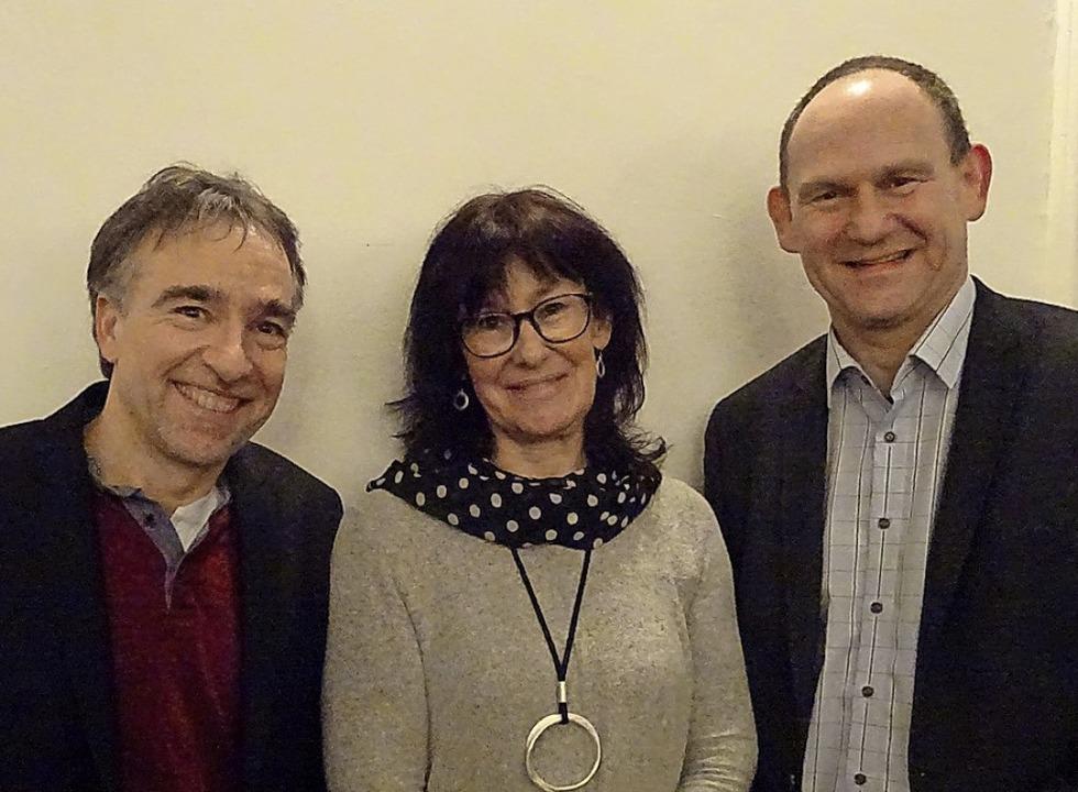 Motor des Stadtteilvereins: Volker Hen...briele Moll, Andreas Rühle (von links)    Foto: Yvonne Siemann