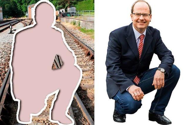 Bundespolizei rügt Kanderner Bürgermeister wegen Foto im Gleisbett