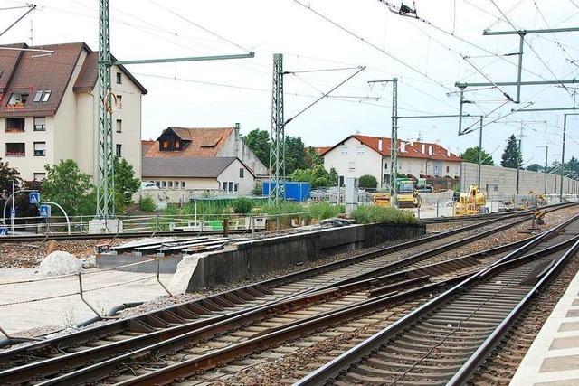 Die Bahn plant lärmintensive Tag- und Nachtarbeiten in Haltingen