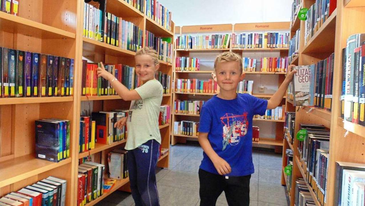 Kinder wie Hellen und Till zählen zu d...eschoss des Neubaus der Murgtalschule.  | Foto: Michael Gottstein