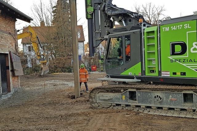 Baubeginn auf dem Werksbahn-Gelände