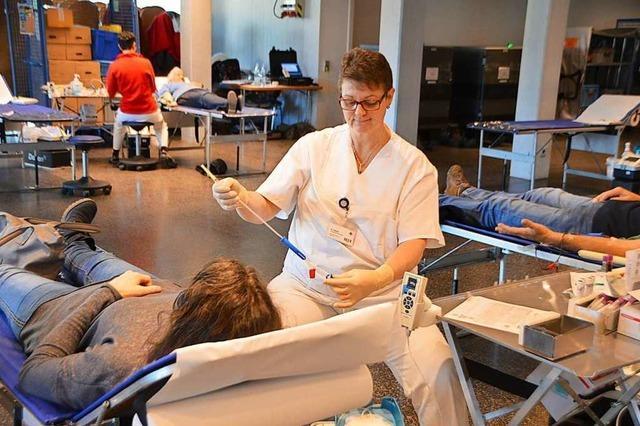 Es wird immer schwerer, Helfer für Blutspendetermine zu finden