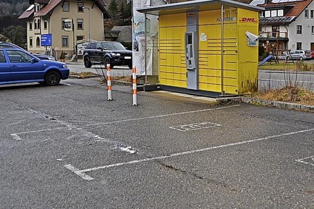 Neuer Platz für DHL-Packstation