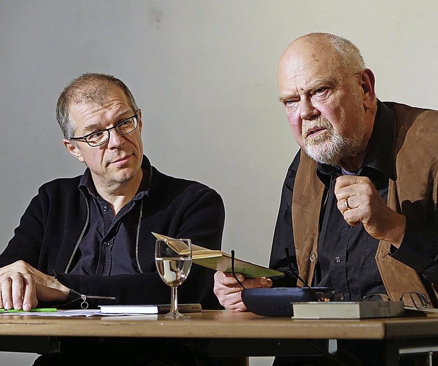 Über die Bedeutung und die Zukunft der...r (links) und Autor Christian Schmid.   | Foto: Roswitha Frey