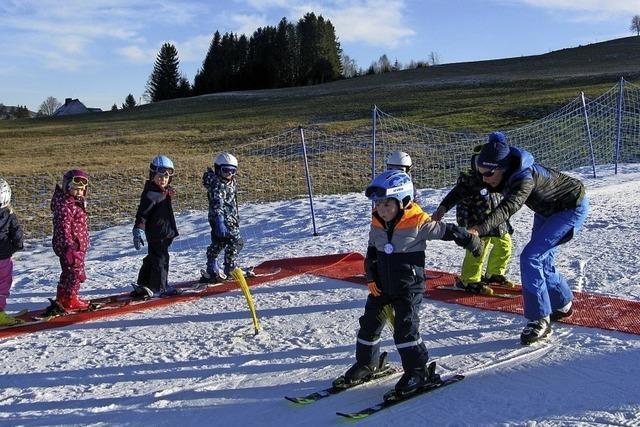 Kälte und die Technik machen die Sportwoche möglich