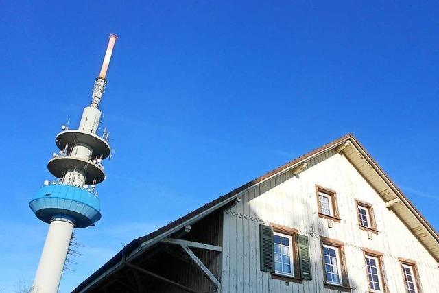 Der Funkturm auf dem Blauen wird um 18 Meter kürzer