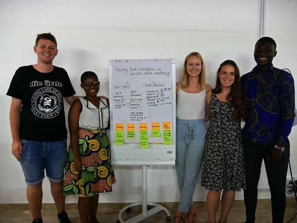 Ghanaische und deutsche Studierende entwickeln Ideen für sechs Projekte  | Foto: Wendy Fehlner