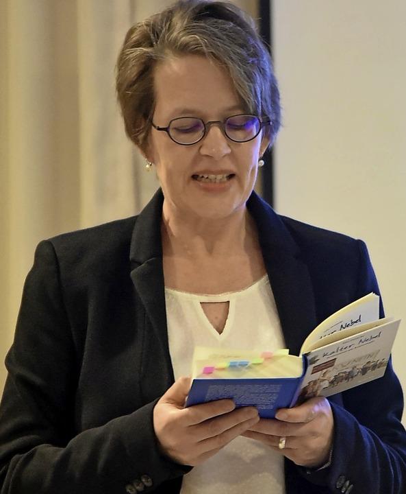 Julia Heinecke bei der Lesung  | Foto: Benedikt Sommer