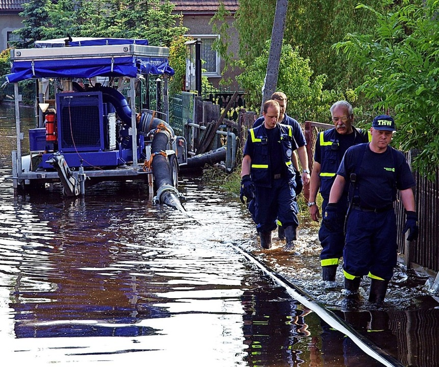 Bei Überschwemmungen wird das THW gebraucht.    Foto: THW