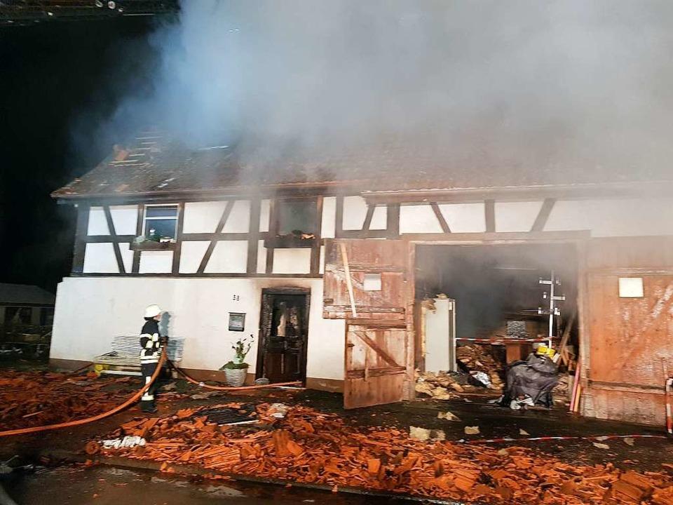 Großbrand in Brunnadern    Foto: kamera24.tv