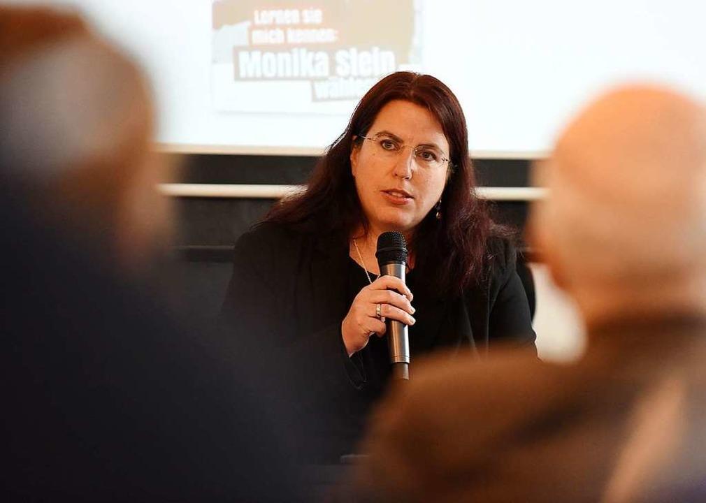Monika Stein hat sich um die Nachfolge... Gerda Stuchlik ins Gespräch gebracht.  | Foto: Rita Eggstein