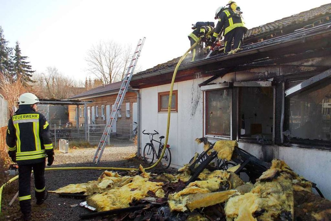 Die Feuerwehr im Einsatz  | Foto: Feuerwehr Denzlingen