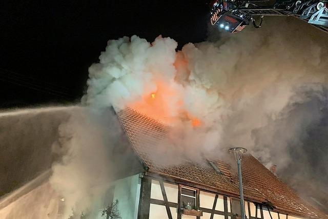 Großbrand fordert ein Todesopfer
