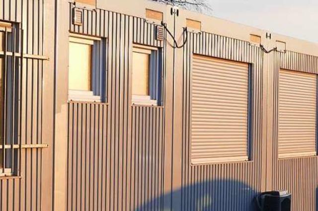 Regierungspräsidium informiert im Baustellencontainer über die Arbeiten