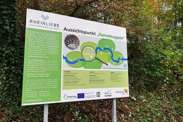 Die Erlebniszone am Ufer in Schwörstadt nimmt Gestalt an