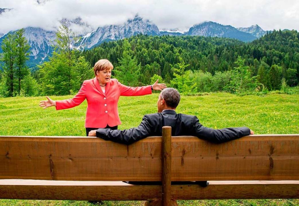 Trautes Gespräch unter Staatslenkern? ...chnitt zeigt nicht die ganze Wahrheit.  | Foto: Michael Kappeler