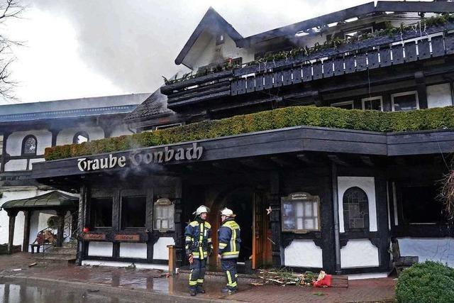 Zerstörte Schwarzwaldstube: Brandursache bleibt unklar