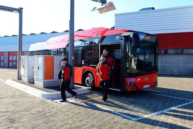 Freiburger Verkehrsbetriebe testen ihre ersten E-Busse