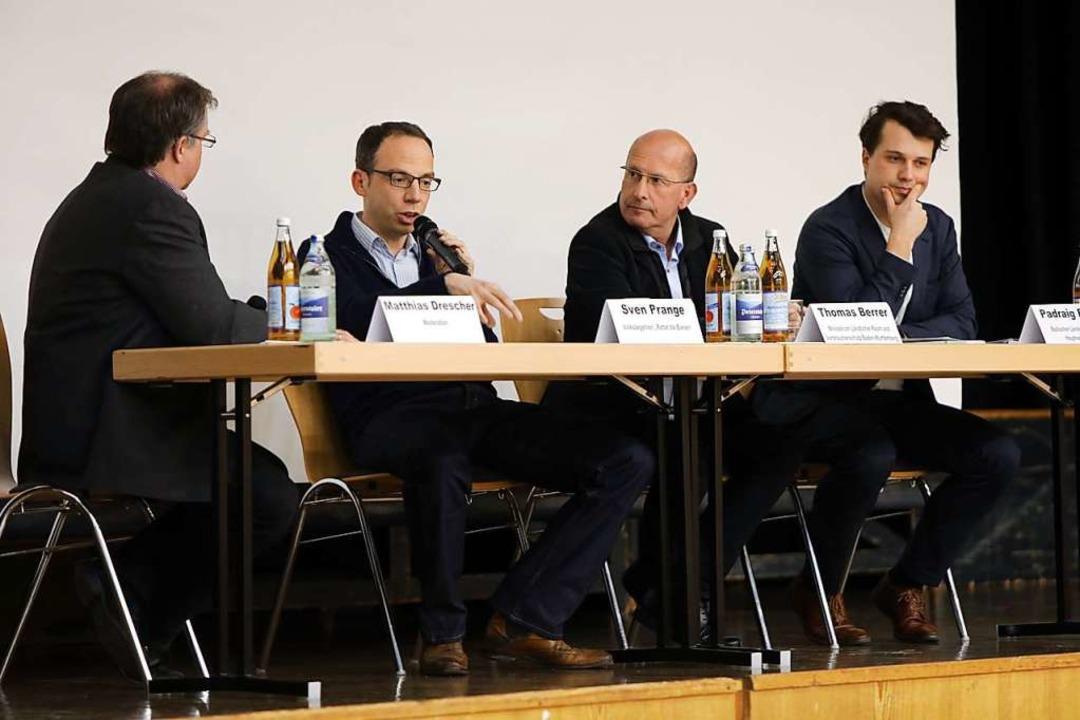 Matthias Drescher (von links), Sven Pr...rrer und Padraig Elsner auf dem Podium  | Foto: Christoph Breithaupt
