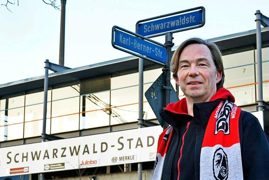 SC-Nachbar und Fan Stefan Schultz ist wehmütig.  | Foto: Michael Bamberger