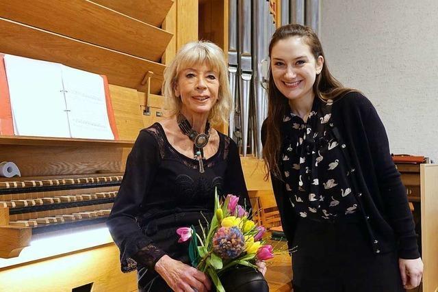 Organistin Irmtraud Tarr feierte ihren 70 Geburtstag mit einem besonderen Konzert