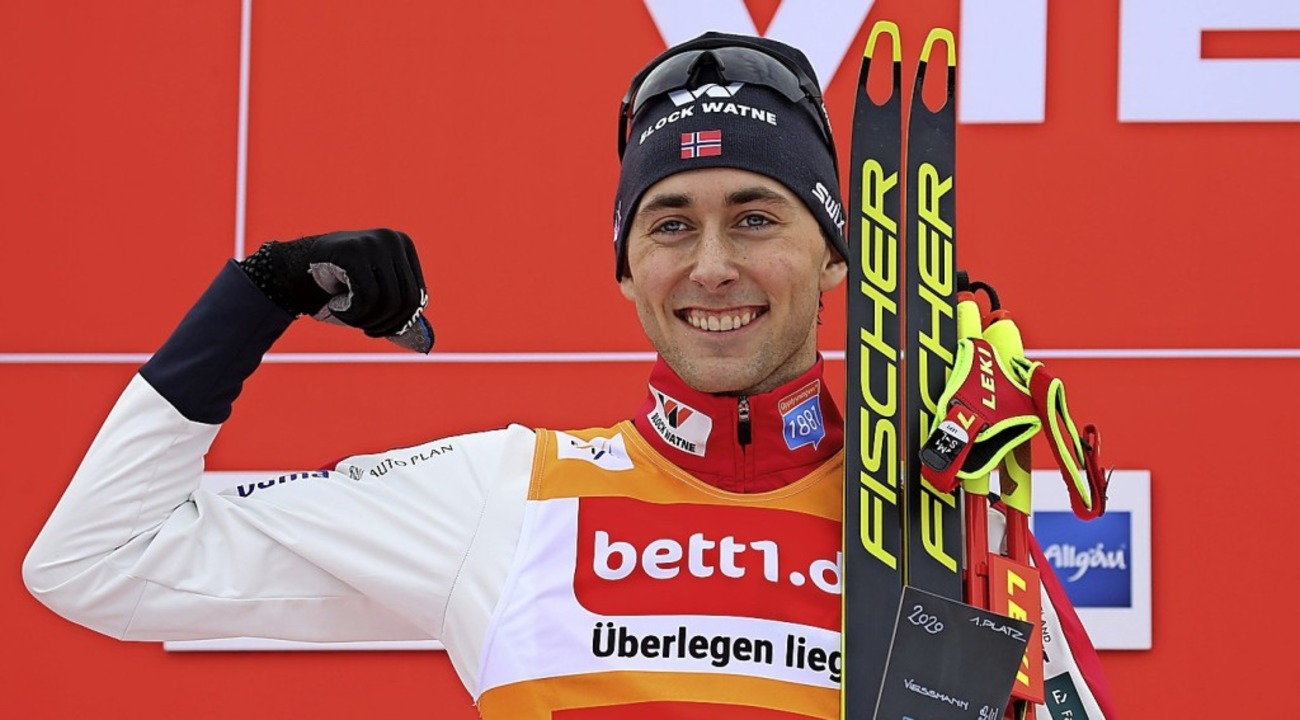 Weit, weit, weit vor den Weltcup-Konku...f am Sonntag seinen achten Saisonsieg.  | Foto: Karl-Josef Hildenbrand (dpa)