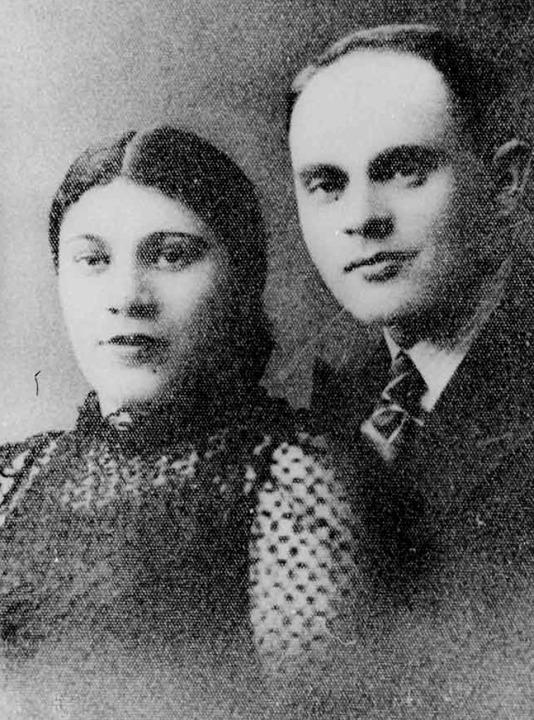 Salmen Gradowski und seine Frau Sonia....939, drei Jahre vor ihrer Deportation.