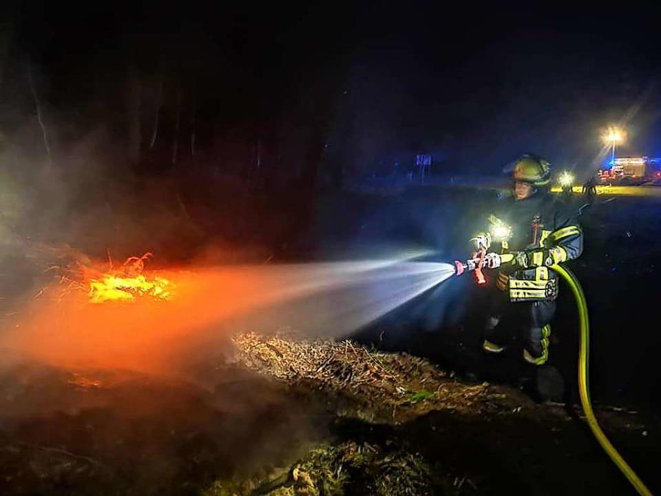 Die Feuerwehr Murg wurde in der Nacht ...and im Bereich Murg-Rothaus alarmiert.  | Foto: FFW Murg