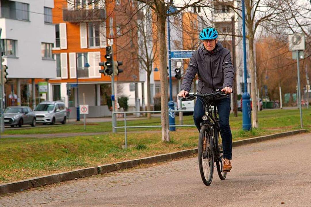 Sigi Suhr fährt seit 50 Jahren Fahrrad.  | Foto: Joshua Kocher