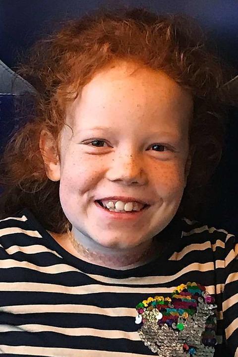 Die neunjährige Jana aus Münstertal braucht einen Stammzellenspender.  | Foto: Privat