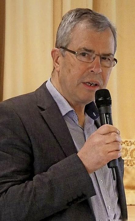 Martin Singler, der Vorsitzende der ne...ierten Europa-Union Südlicher Breisgau  | Foto: Herbert Rinderle