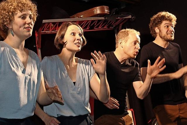 Ein singendes Bankräuber-Quartett