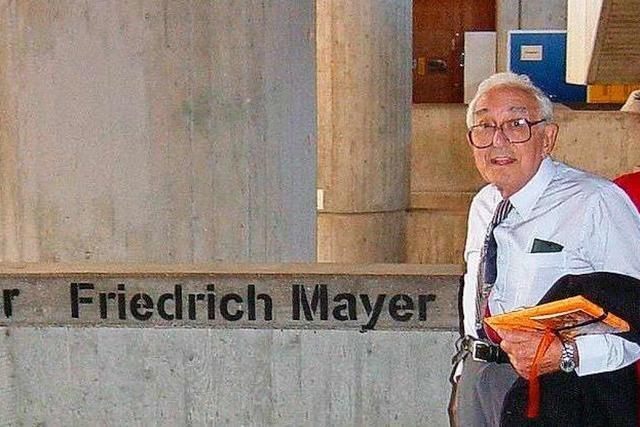 Freiburg benennt Straße nach dem jüdischem Widerstandskämpfer Fred Mayer