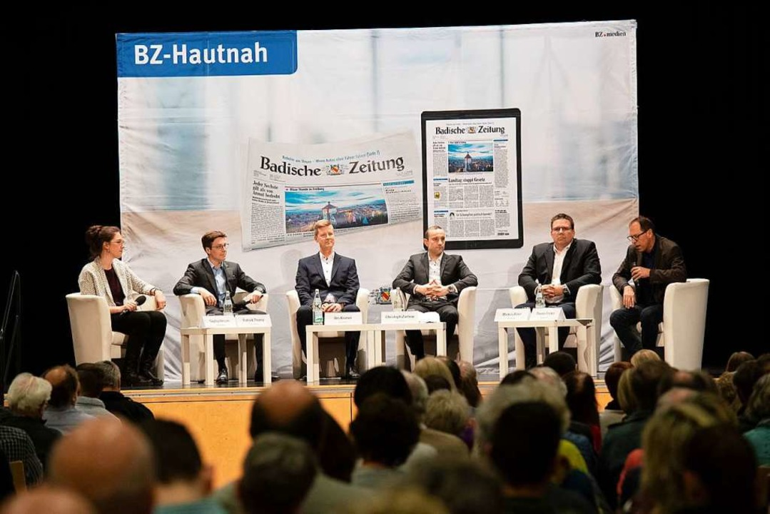 BZ-Chefredakteur Thomas Fricker und di... Zachow und Markus Biller (von links).  | Foto: Volker Münch