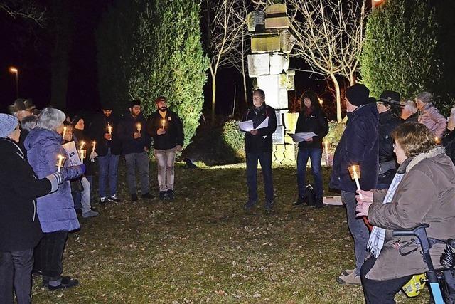 Mit Kerzen ein Zeichen setzen