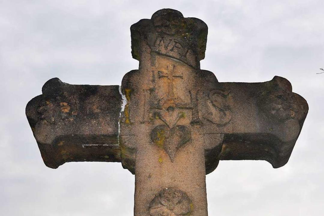 Ein Arma Christi Kreuz bei Mauchen    Foto: Jutta Schütz